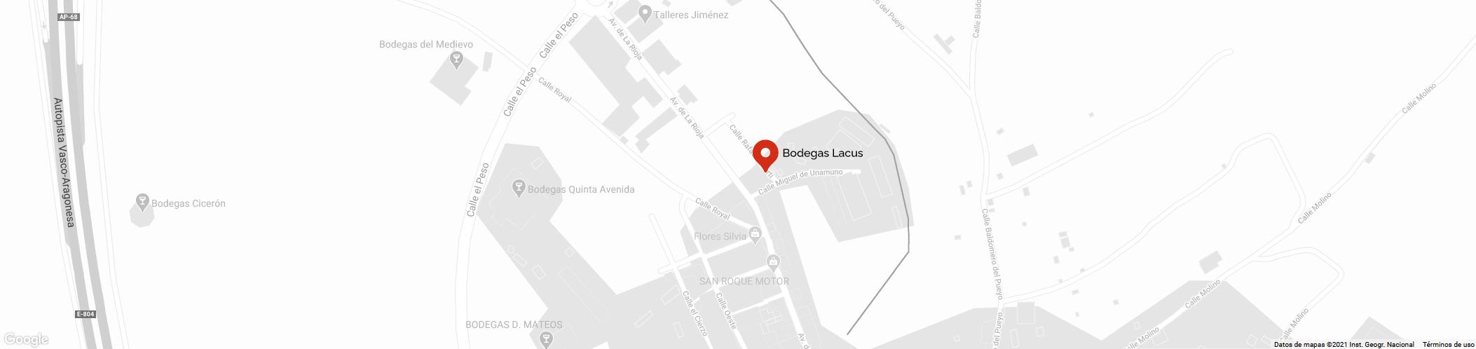 Localización Bodegas Lacus